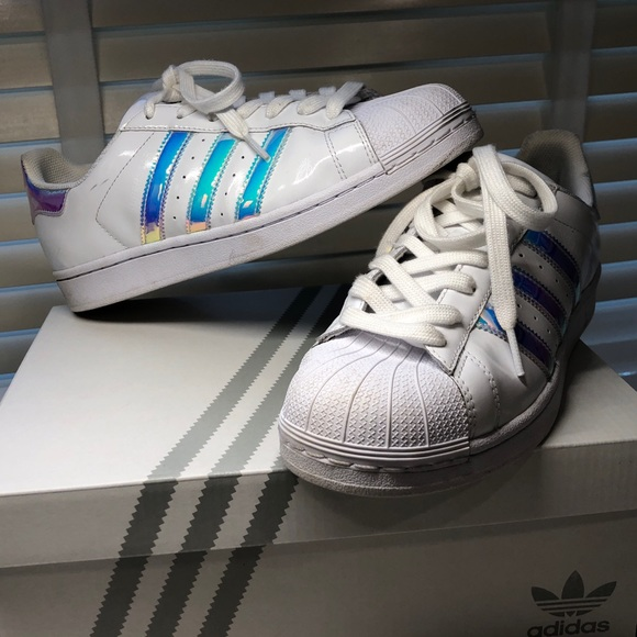 2196fea94a2 adidas Shoes - custom holographic adidas superstars sneakers